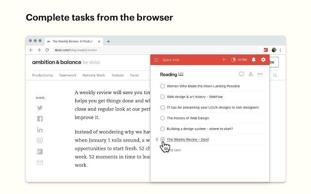 Chrome Todoist 备忘录的使用截图[5]