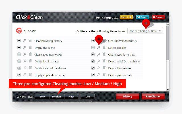 Click&Clean 清除浏览记录的使用截图[2]