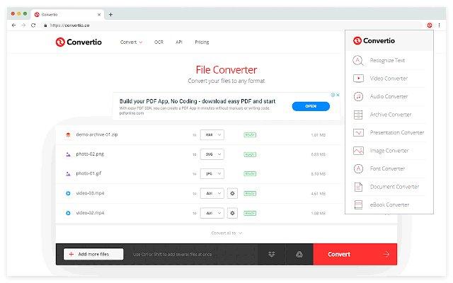 Convertio 超级文件格式转换器的使用截图[2]