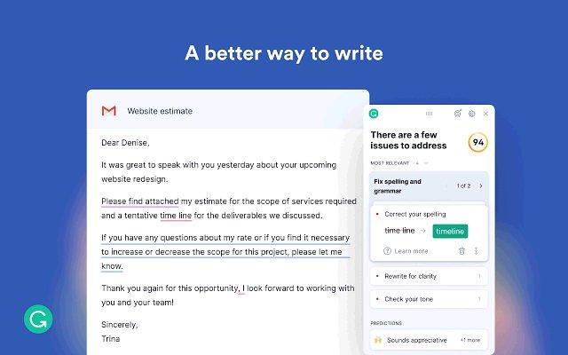 Grammarly for Chrome的使用截图[1]