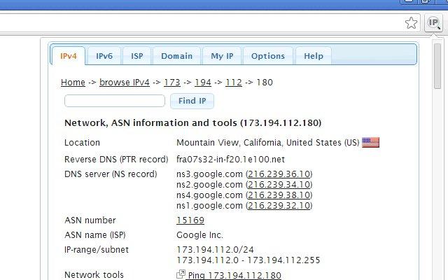 IP Address and Domain Information的使用截图[1]