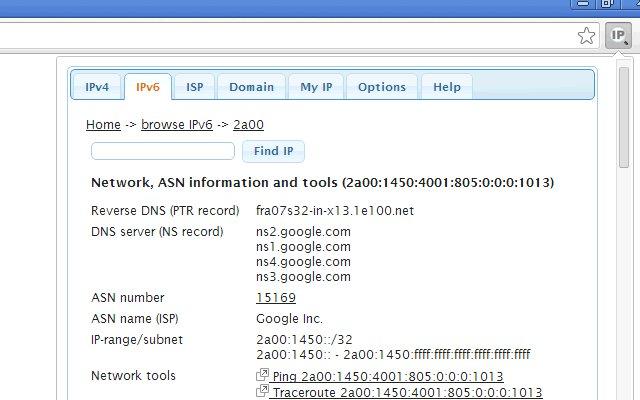 IP Address and Domain Information的使用截图[4]