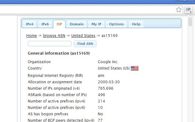 IP Address and Domain Information的使用截图[2]