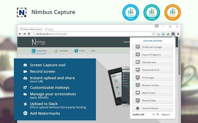 Nimbus Screenshot 截屏录像的使用截图[1]