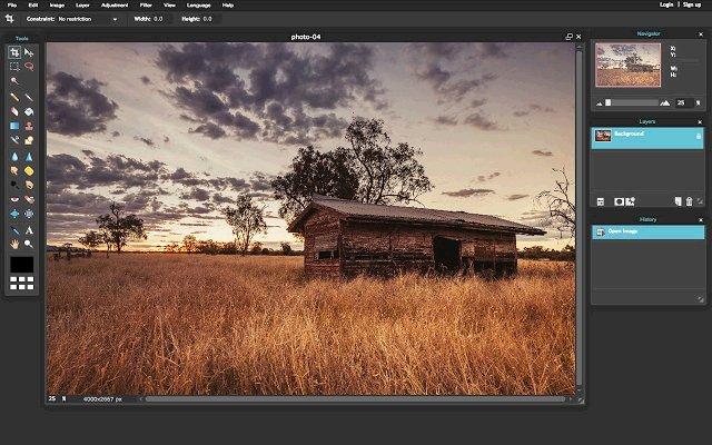 Pixlr Editor 图片编辑器的使用截图[1]