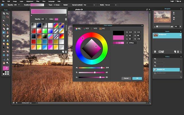 Pixlr Editor 图片编辑器的使用截图[2]