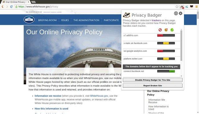 Privacy Badger 隐私獾的使用截图[2]