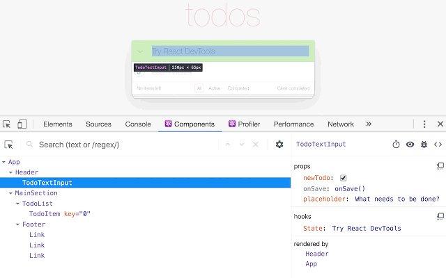 React Developer Tools 开发工具的使用截图[1]