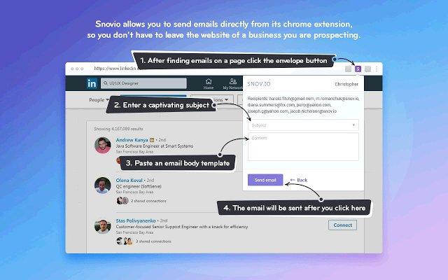 Snovio Email Finder 邮箱地址查找工具的使用截图[3]
