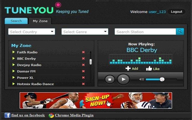 无线电 TuneYou Radio的使用截图[4]