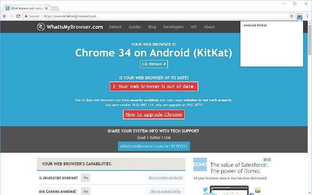 User-Agent Switcher for Chrome的使用截图[1]