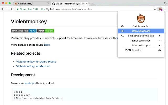 ViolentMonkey 暴力猴的使用截图[1]